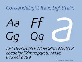CorisandeLight Italic