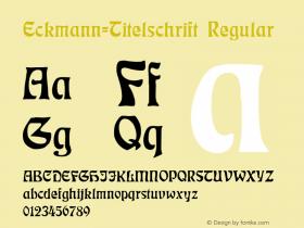 Eckmann-Titelschrift