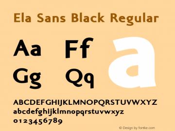Ela Sans Black