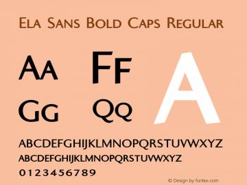 Ela Sans Bold Caps
