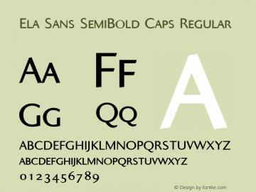 Ela Sans SemiBold Caps