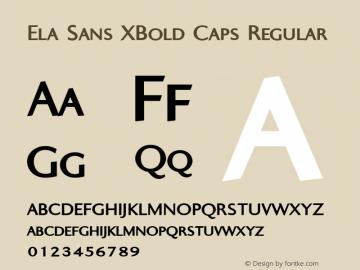 Ela Sans XBold Caps