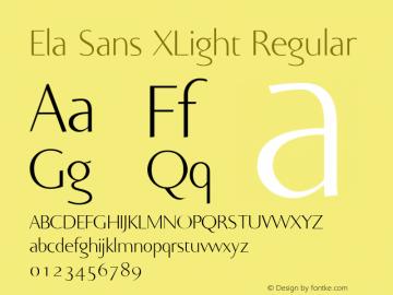 Ela Sans XLight