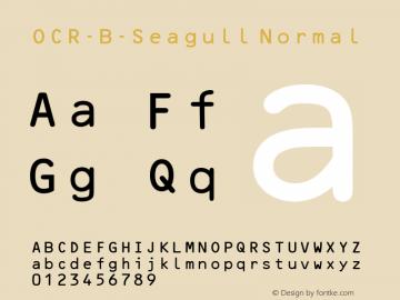 OCR-B-Seagull