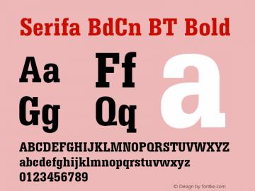 Serifa BdCn BT