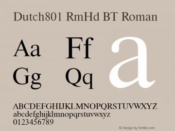 Dutch801 RmHd BT