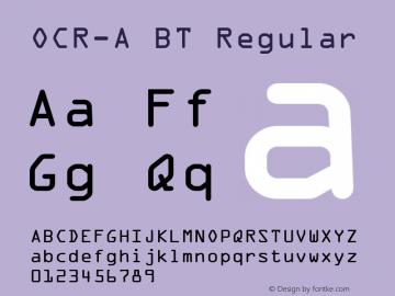 OCR-A BT