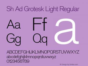 Sh Ad Grotesk Light