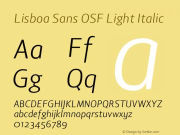 Lisboa Sans OSF Light