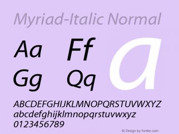 Myriad-Italic