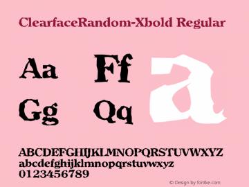 ClearfaceRandom-Xbold