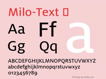 Milo-Text