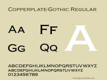 Copperplate-Gothic