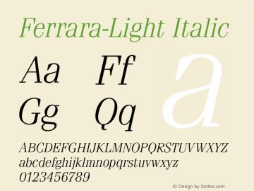 Ferrara-Light
