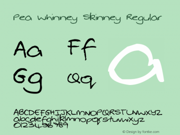 Pea Whinney Skinney