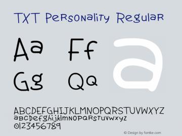 TXT Personality