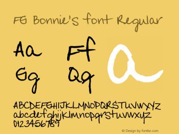 FG Bonnie's font