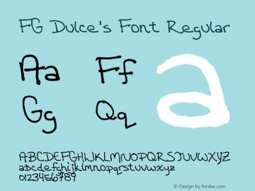 FG Dulce's Font