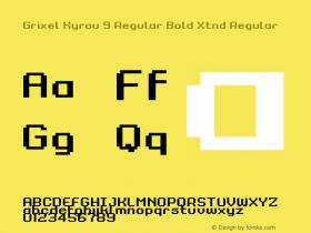 Grixel Kyrou 9 Regular Bold Xtnd