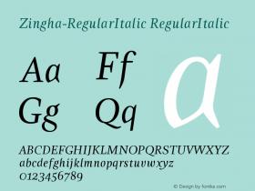 Zingha-RegularItalic