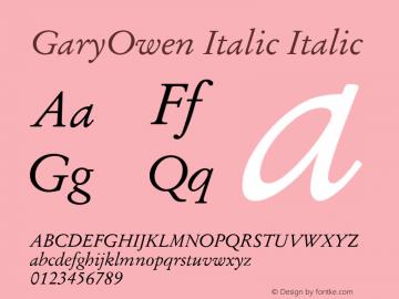 GaryOwen Italic