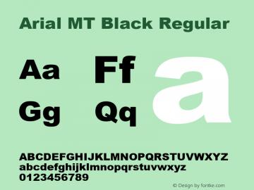 Arial MT Black