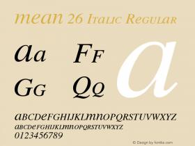 MEAN 26 Italic