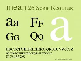 MEAN 26 Serif