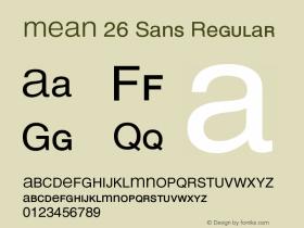 MEAN 26 Sans