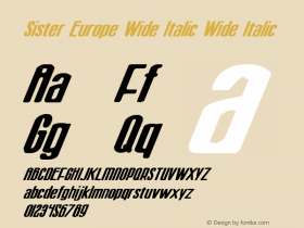 Sister Europe Wide Italic