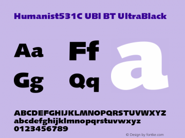 Humanist531C UBl BT