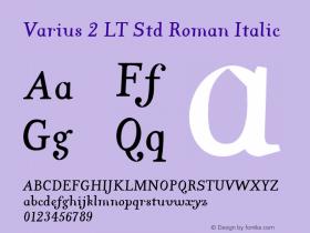 Varius 2 LT Std Roman