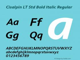 Cisalpin LT Std Bold Italic