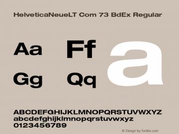 HelveticaNeueLT Com 73 BdEx