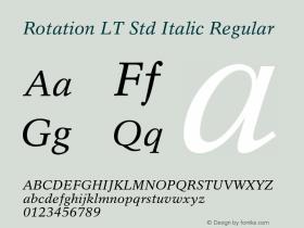 Rotation LT Std Italic