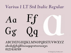 Varius 1 LT Std Italic