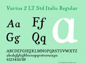 Varius 2 LT Std Italic