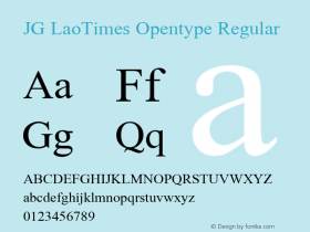 JG LaoTimes Opentype