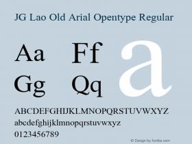 JG Lao Old Arial Opentype