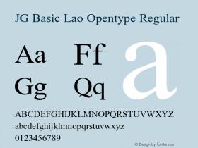 JG Basic Lao Opentype