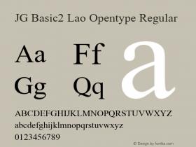 JG Basic2 Lao Opentype
