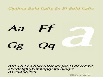 Optima Bold Italic Ex BI
