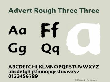 Advert Rough Three