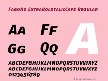 FagoNo ExtraBoldtalicCaps