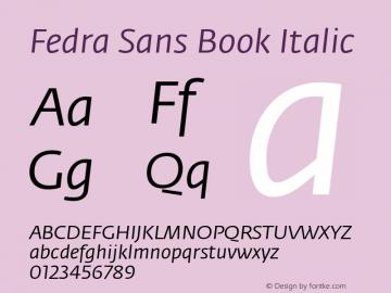 Fedra Sans Book