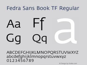 Fedra Sans Book TF