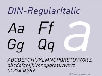 DIN-RegularItalic