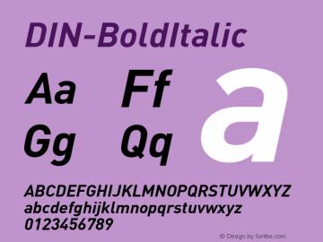 DIN-BoldItalic