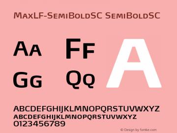 MaxLF-SemiBoldSC