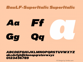 BauLF-SuperItalic